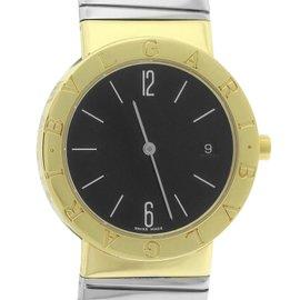 Bvlgari Bulgari Tubogas BB.33.GSCD 18K Yellow Gold and Stainless Steel Quartz 33mm Watch