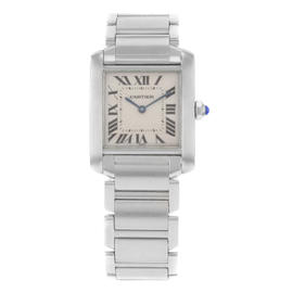 Cartier Tank Francaise Small W51008Q3 Stainless Steel Quartz 20mm Women's Watch