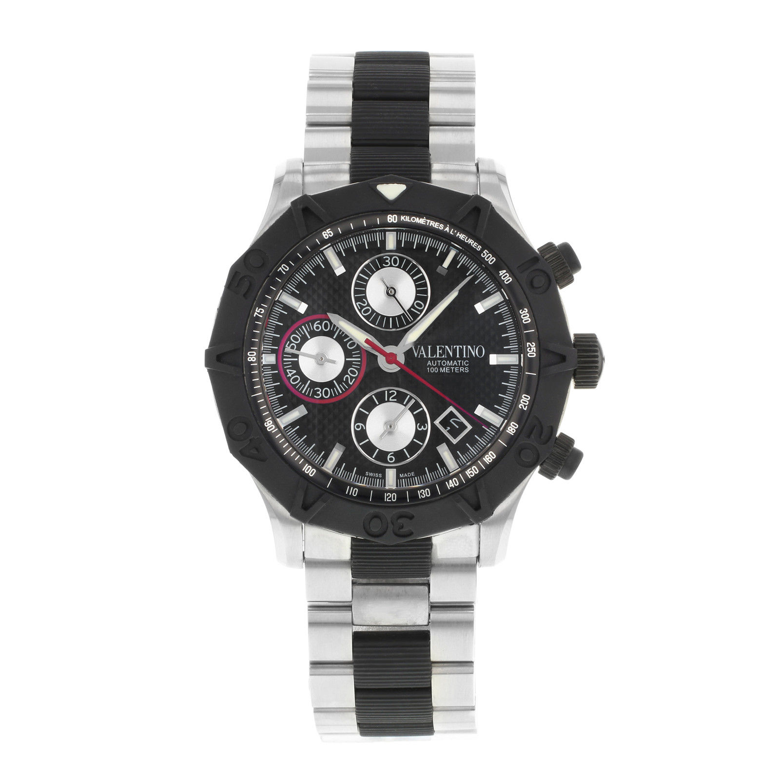 "Image of ""Valentino V40Lca9R909-S09R Stainless Steel Automatic 45mm Men's Watch"""