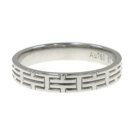 Hermes 18k White Gold Ring Size 8