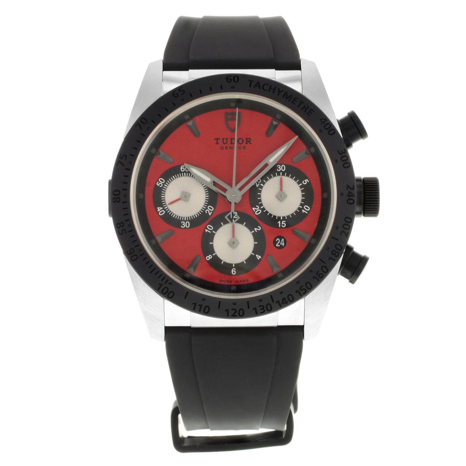 """Image of """"Tudor Fastrider 42010N-Rubber-Red Stainless Steel & Ceramic Automatic"""""""
