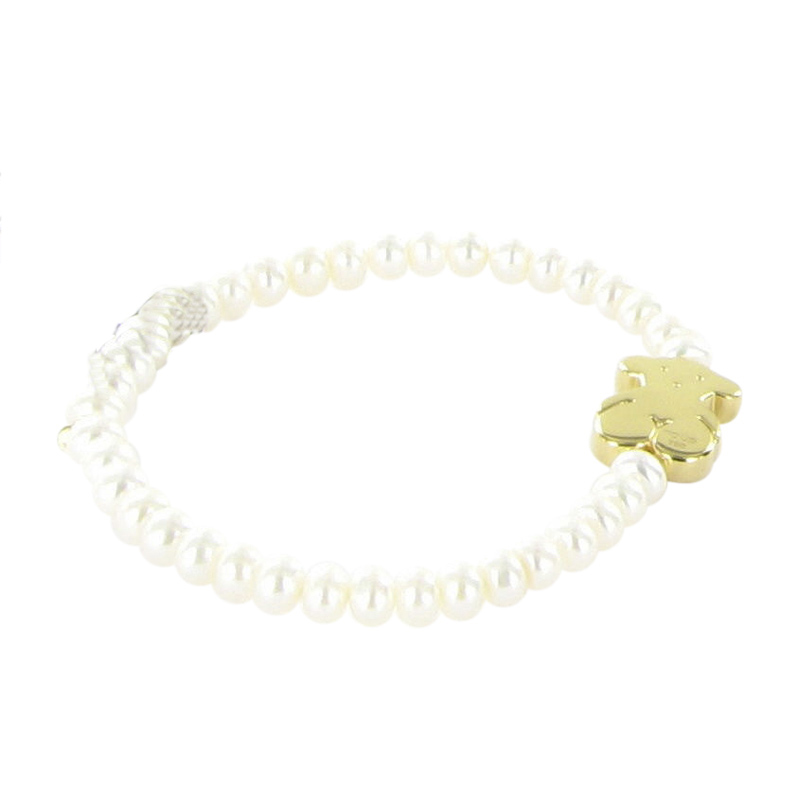 "Image of ""Tous 18K Yellow Gold and Pearl Bracelet"""