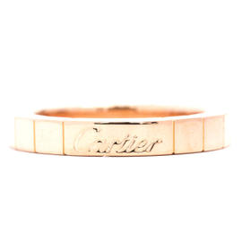 Cartier 750 Rose Gold Lanieres Ring Size 4.0
