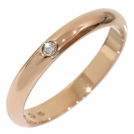 Cartier 750 Rose Gold 1P Diamond Wedding Ring Size 5.0