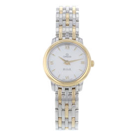 Omega DeVille Prestige 424.20.24.60.05.001 Stainless Steel and 18K Yellow Gold Quartz 24mm Watch