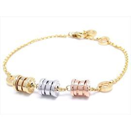 Bulgari B Zero One 18k Rose, Yellow, White Gold Element Bracelet
