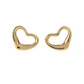 Tiffany & Co. Elsa Peretti 18K Yellow Gold Mini Open Heart Earrings
