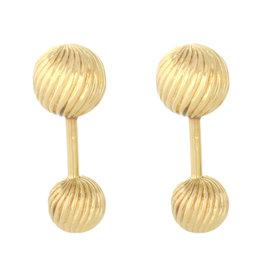 Tiffany & Co. Ruben Vintage 18K Yellow Gold Fancy Barbell Cufflinks