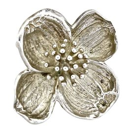 Tiffany & Co .925 Sterling Silver Flower Pin Vintage Brooch