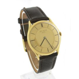 Patek Philippe 2507 18K Yellow Gold / Leather Vintage Manual 32mm Mens Watch