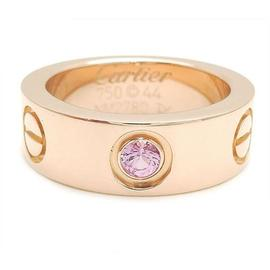 Cartier 18k Rose Gold Pink Sapphire Love Ring Size 3