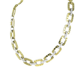 Roberto Coin Pois Moi 18K Yellow Gold Link 3.1cts Diamond Necklace