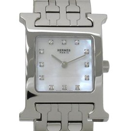 Hermes H Watch HH1.210 SS Stainless Steel 24mm Womens Watch