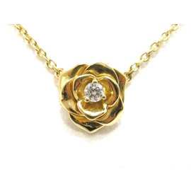 Piaget 750 Yellow Gold Rose Diamond Necklace