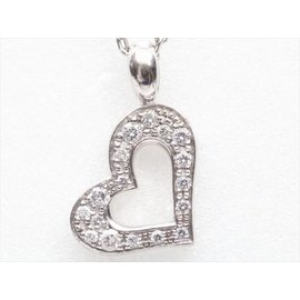 Piaget 750 White Gold Heart Diamond Necklace
