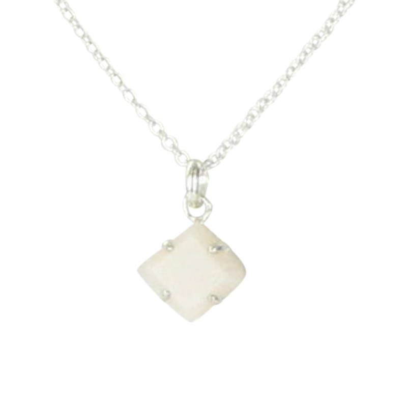 """Image of """"Tous 925 Sterling Silver & Pink Opal Necklace"""""""