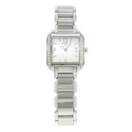 Tissot T-Wave T02.1.385.82 Stainless Steel & Diamonds Quartz 24mm Womens Watch