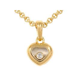Chopard 750 Yellow Gold Happy Diamond Heart Necklace