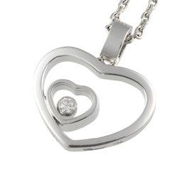 Chopard 750 White Gold Happy Diamond Necklace