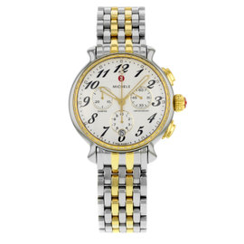 Michele Fluette MWW24A000007 Stainless Steel & Yellow Gold Quartz 38mm Womens Watch