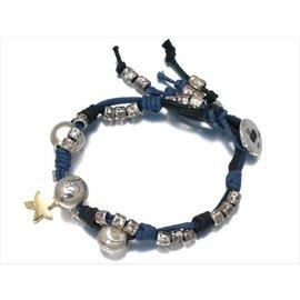 Pomellato 18k Yellow Gold & SV925 Sterling Silver Starfish Charm Bracelet