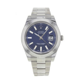 Rolex Datejust II 116300 blio Stainless Steel Automatic 41mm Mens Watch