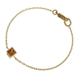 Gucci 750 Yellow Gold Citrine G Cube Bracelet