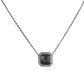 Ippolita Stella 925 Sterling Silver with 0.11cts Diamonds & Amethyst Quartz Necklace