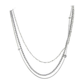David Yurman 925 Sterling Silver Starburst 3 Strand Pearl Necklace