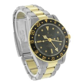 Rolex GMT-Master 16753 18K Yellow Gold / Stainless Steel 40mm Mens Watch