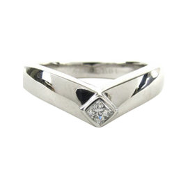 Cartier 18K White Gold & Diamond Ring Size 5.25