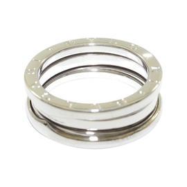 Bulgari B.Zero1 18k White Gold Ring Size 7.75