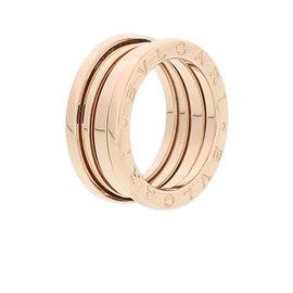 Bulgari B Zero1 18k Rose Gold Three Band Ring Size 5.5