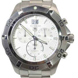 Tag Heuer Aquaracer Grande Stainless Steel Date Chronograph Quartz White 44mm Mens Watch