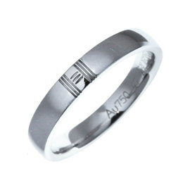 Hermes 750 White Gold Ring Size 4