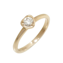Cartier 750 Rose Gold Diamond Diamants Legers Ring Size 4