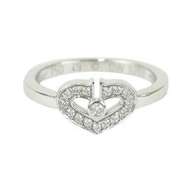 Cartier 18K White Gold & Diamond C Heart Ring 5