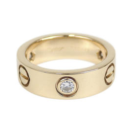 Cartier 18K Yellow Gold & Diamond Love Ring Size 4.5