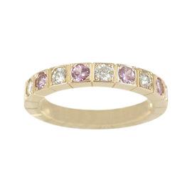 Cartier 18K Rose Gold & Diamond Lanieres Ring Size 5