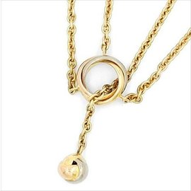 Cartier 750 White Yellow Rose Gold Baby Trinity Pampilles Necklace