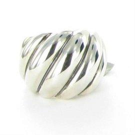 David Yurman 925 Sterling Silver Hampton Cable Ring Size 6