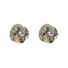 Le Vian Sinuous Swirls 14K Rose Stud 0.46cts Diamond Earrings