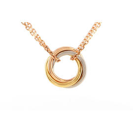 Cartier 750 White Yellow Rose Gold Sweet Trinity Necklace