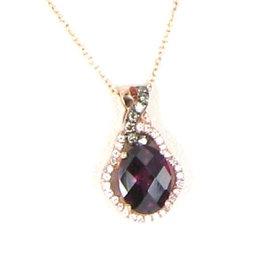 Le Vian Chocolatier 14K Rose Gold with 0.20ct Diamonds and Rhodolite Garnet Necklace