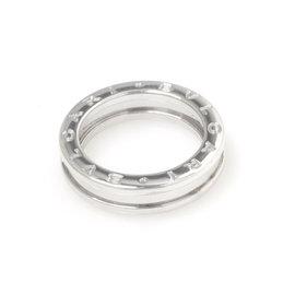 Bulgari 18K White Gold B.Zero1 Ring Size 5