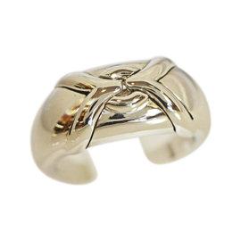 Bulgari 750 White Gold Trika Parentesi Ring Size 6.25