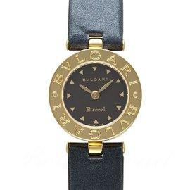 Bulgari B.Zero1 BZ22G 18k Yellow Gold Leather Black 22mm Womens Watch