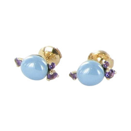 Pomellato Capri 18K Rose Gold with Turquoise and Amethyst Earrings
