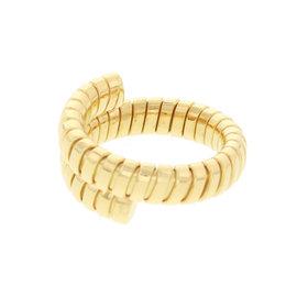 Bulgari 750 Yellow Gold Tubogas Snake Ring Size 6.5