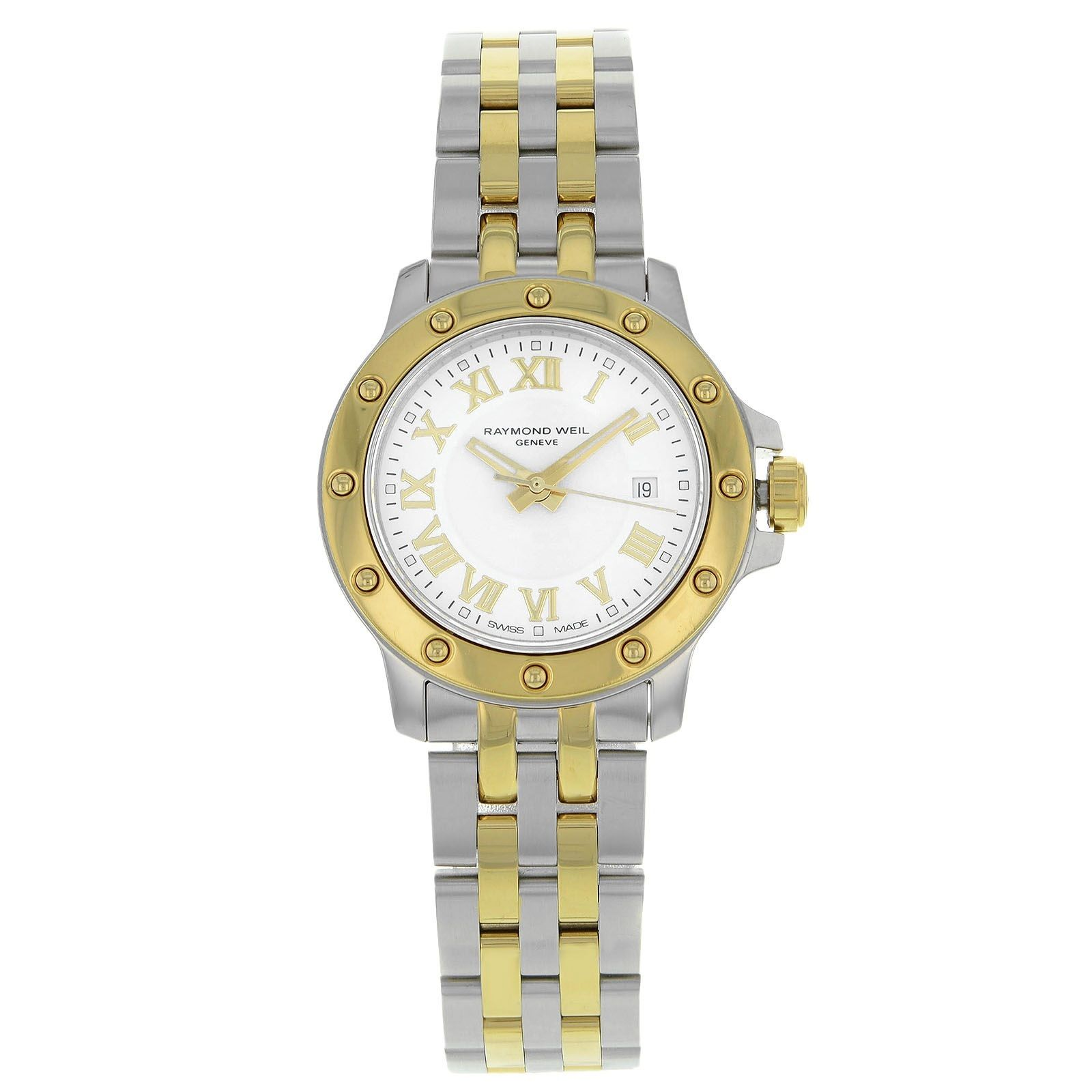 """Image of """"Raymond Weil Tango 5399-Stp-00308 Stainless Steel & 18K Yellow Gold"""""""